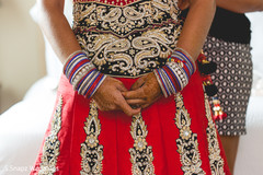 indian bride getting ready,indian bride,indian wedding lengha