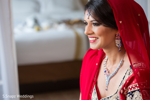 Red bridal dupatta. in Long Island, NY Fusion Wedding by S.Snapz Weddings