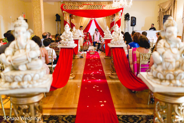 Fabulous indian wedding ceremony decor. in Long Island, NY Fusion Wedding by S.Snapz Weddings