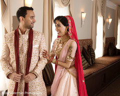 first look photography,indian bride and groom,indian wedding outfits