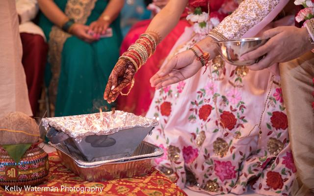 Indian couple enjoin wedding ceremony
