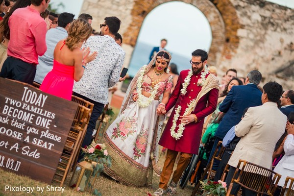 destination wedding ceremony,indian bride,indian groom