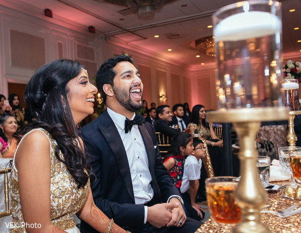 Indian couple cheering