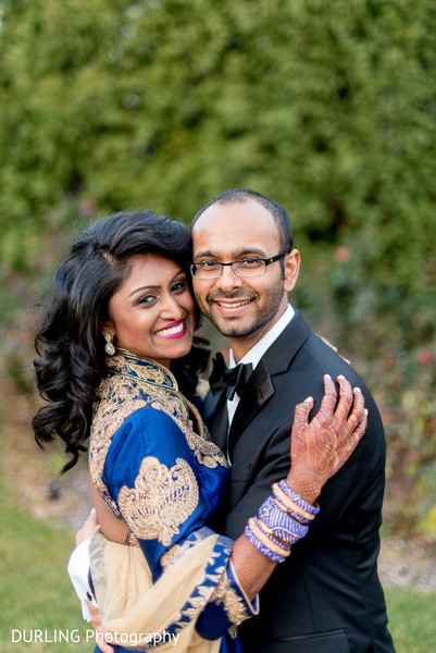 Lovely indian couple photography before wedding reception