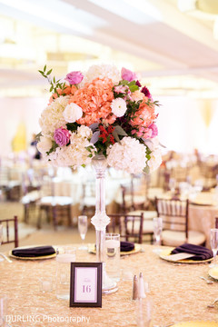 floral centerpieces,indian wedding reception floral and decor,indian wedding planning and design