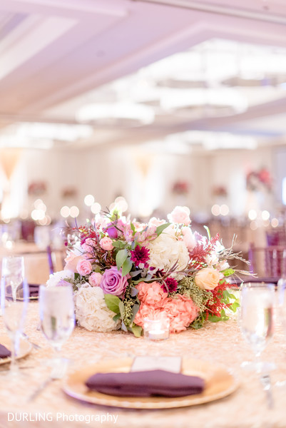 Flower decor at indian wedding reception