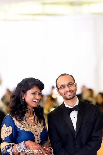 Lovely indian couple photography at wedding reception