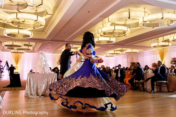 Indian couple first dance at wedding reception