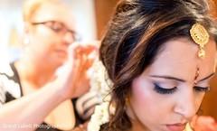 Maharani getting her hair done