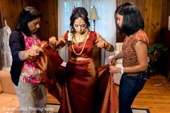 indian bridal lengha,indian bride getting ready