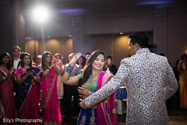 Bride and groom sangeet dance.