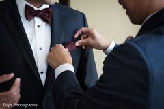 indian groom fashion,black tux,indian bride getting ready