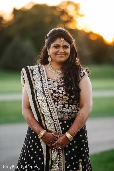 Indian bride outdoor photography before wedding reception