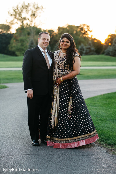 Lovely indian couple outdoor photography before wedding reception
