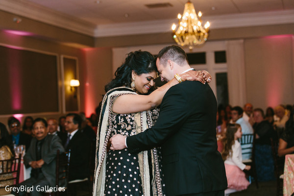 Indian couple dancing photography at wedding reception