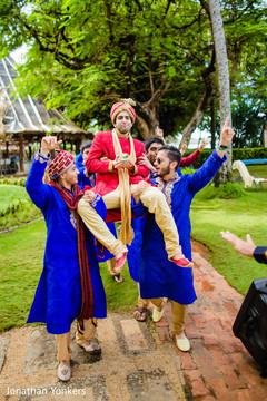 destination wedding photography,baraat,indian groom