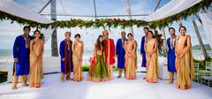 destination indian wedding ceremony,indian groom,indian groomsmen
