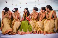 destination indian wedding ceremony,indian bride,indian bridesmaids