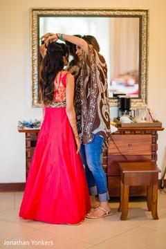 destination indian wedding indian bride,getting ready