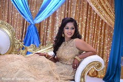 indian wedding reception,floral and decor,indian bride