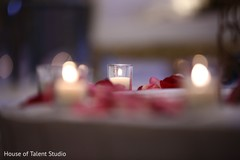 indian wedding reception,floral and decor,table centerpieces