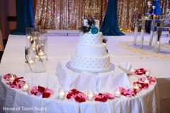 indian wedding reception,wedding cake,wedding cake topper