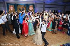 indian newlyweds,reception fashion,wedding dj