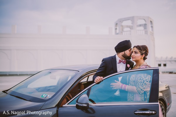Romantic sikh bride and groom