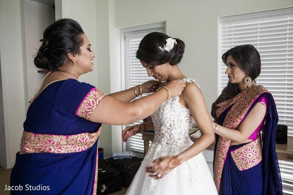 white wedding dress,bridal fashion,getting ready
