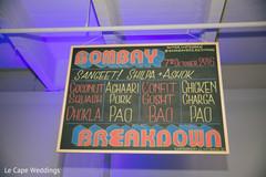 Sangeet menu sign.