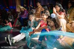 Kids having fun at the sangeet night.