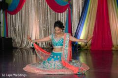 Bride's sangeet choreography.
