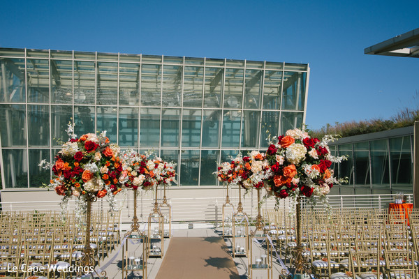 Lovely aisle floral decor.