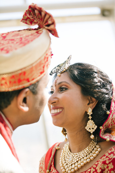 indian bridal makeup,indian groom turban,indian bride and groom portrait