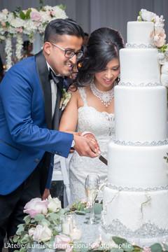 wedding cake,cake cutting,cutting the cake