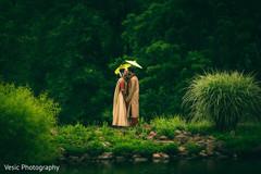 indian bride and groom,outdoor wedding ceremony