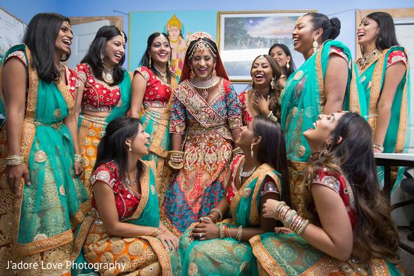 Maharani with her bridesmaids