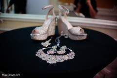 indian bride shoes,bridal jewelry,pre-wedding reception photography