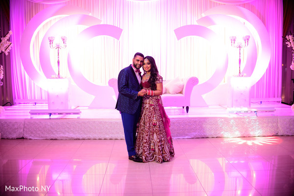 Indian couple photography at wedding reception in Queens, NY Wedding by MaxPhoto NY
