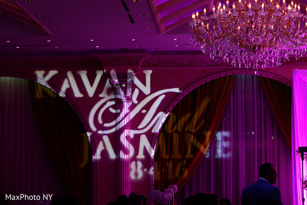 Lovely lightning at indian wedding reception in Queens, NY Wedding by MaxPhoto NY