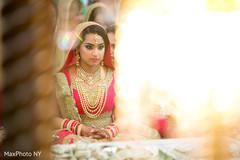 bridal tikka,mehndi,indian bride ceremony fashion