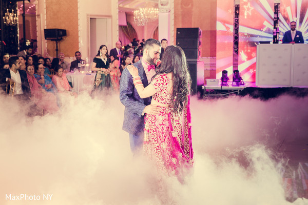 Indian couple dancing photography at wedding reception in Queens, NY Wedding by MaxPhoto NY