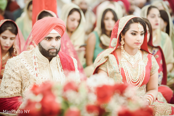 Lovely indian couple photography at wedding ceremony in Queens, NY Wedding by MaxPhoto NY