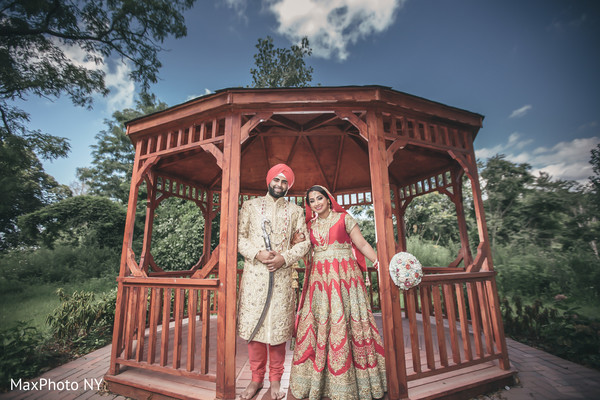Happy indian couple outdoor photography after wedding ceremony in Queens, NY Wedding by MaxPhoto NY