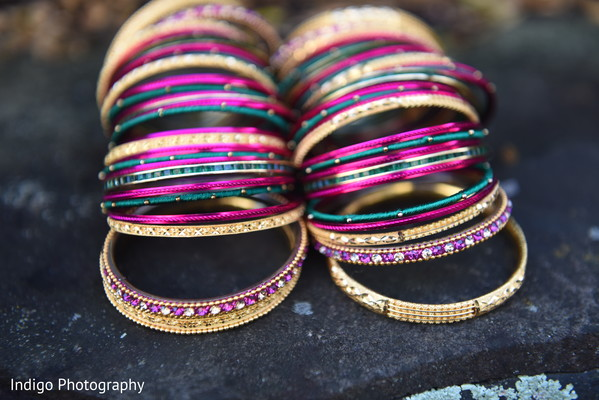Colorful Indian bride's bangles.
