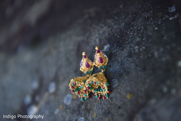 Indian bridal earrings.