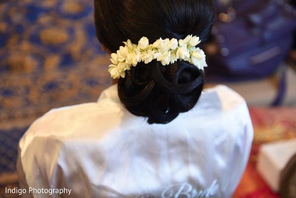 Beautiful Indian bride updo.