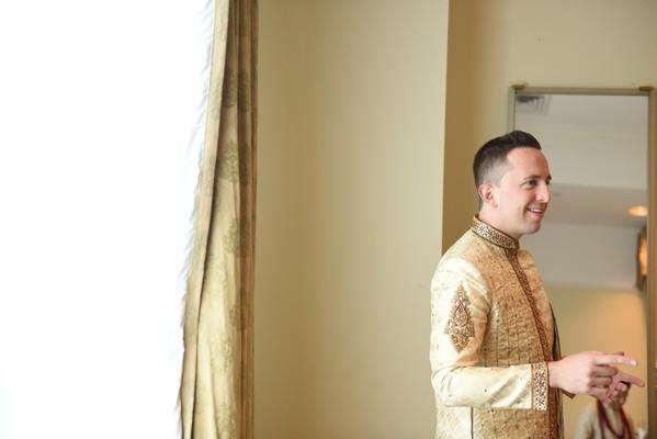 Indian groom's fashion.