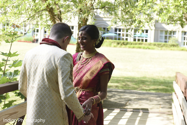 indian bride,indian groom,first look photography