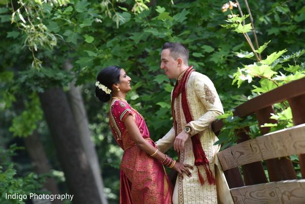 Outdoor wedding photo shoot.